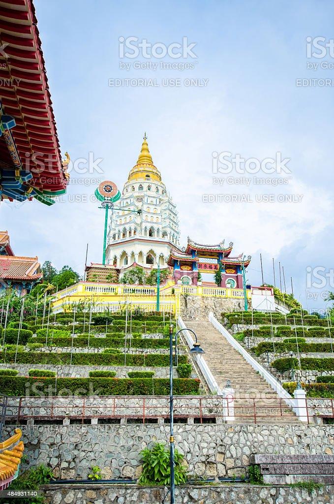 Kek Lok Si temple temple situated in Air Itam Penang. stock photo