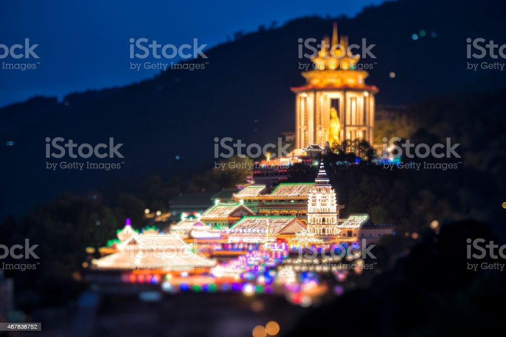 Kek lok Si Temple with miniature effect stock photo