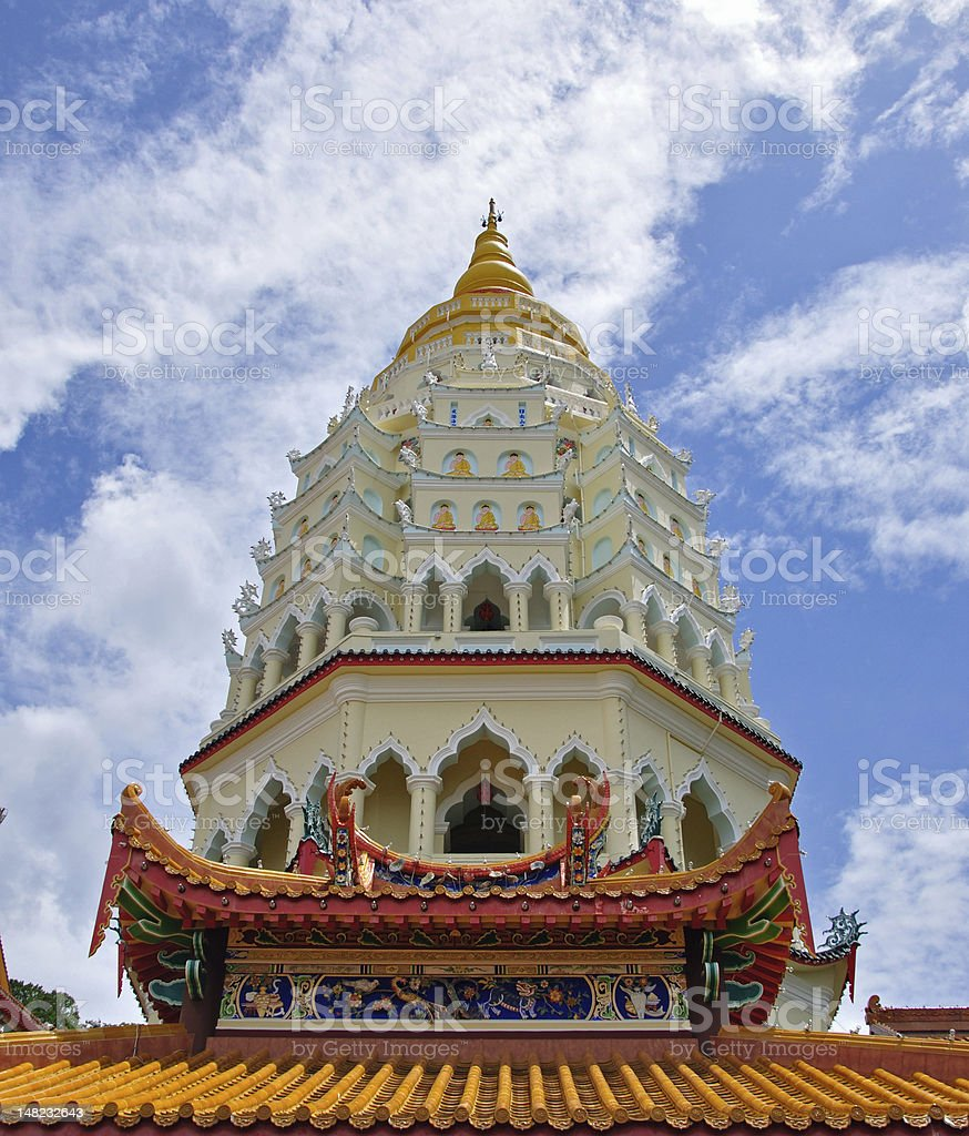 Kek Lok Si Tower close view stock photo