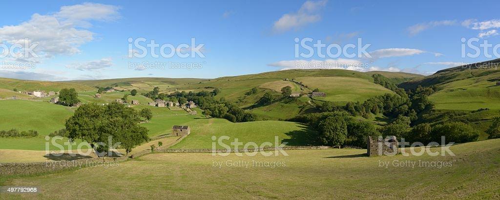 Keld in Swaledale  panorama stock photo