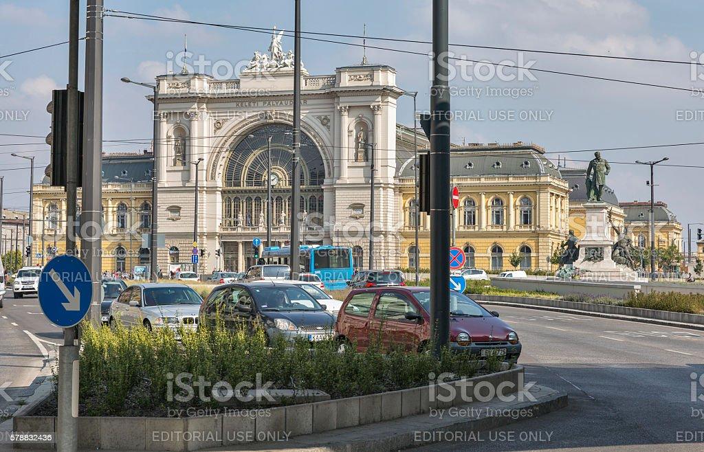 Keleti Railway Station in Budapest, Hungary. stock photo