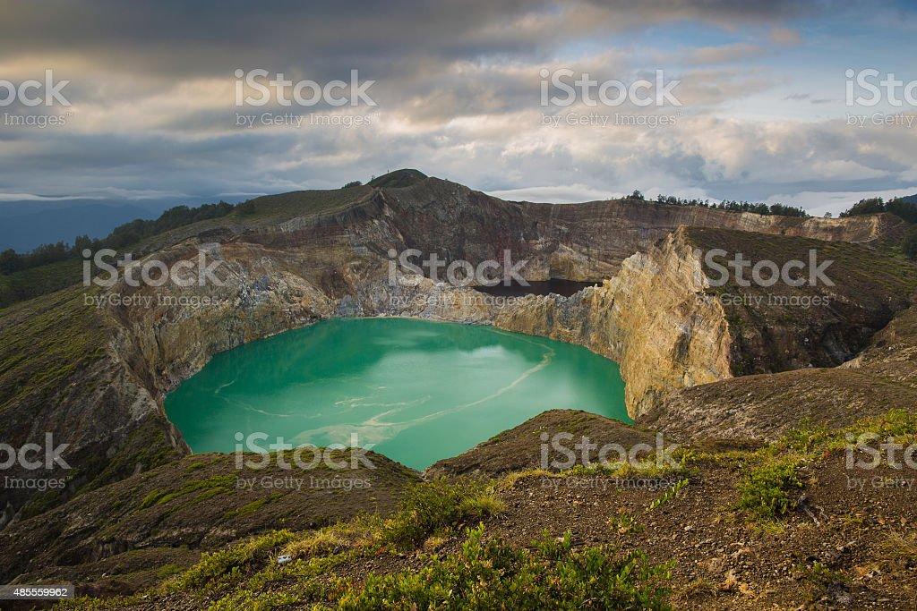 Kelimutu color lakes stock photo