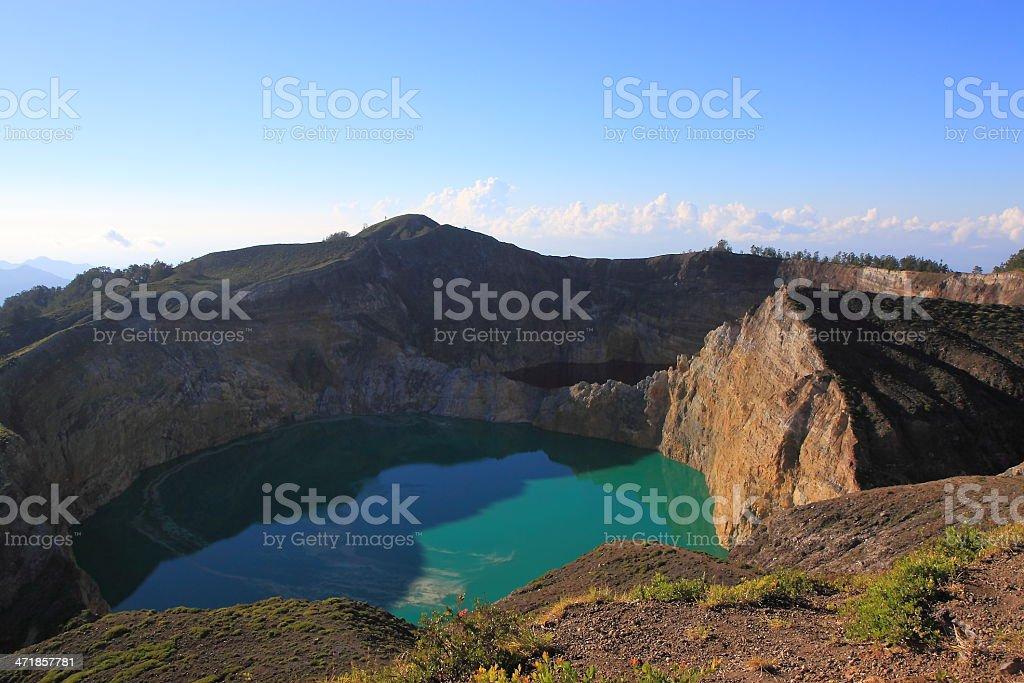 Kelimutu lake Indonesia stock photo