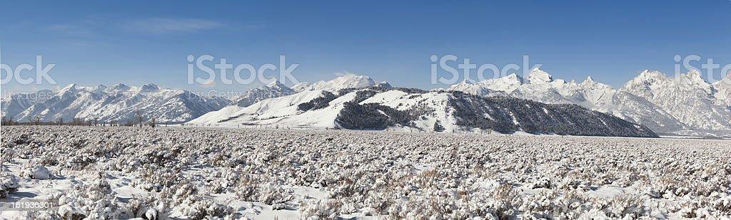 Kelley Wyoming Teton View royalty-free stock photo