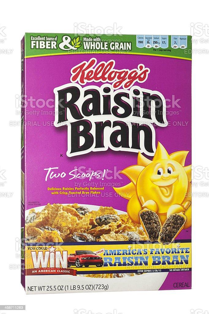 Kellogg's Raisin Bran Whole Grain Breakfast Cereal stock photo