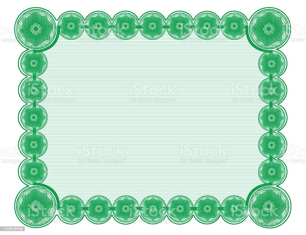 kelly green document frame white background suitable for 85x11 printing royalty free