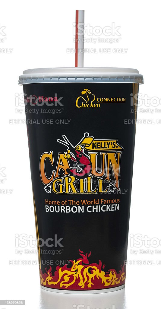 Kelly's Cajun Grill paper cup royalty-free stock photo