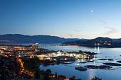 Kelowna at Night Okanagan Lake British Columbia