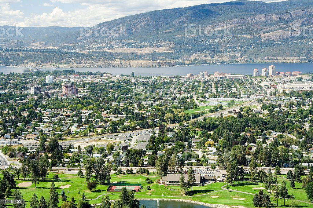 Kelowna, BC (Aerial) royalty-free stock photo