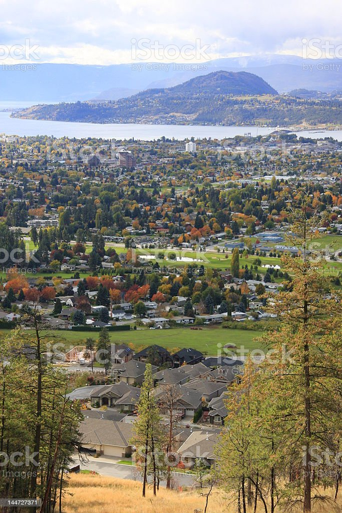 Kelowna, BC (vertical) royalty-free stock photo