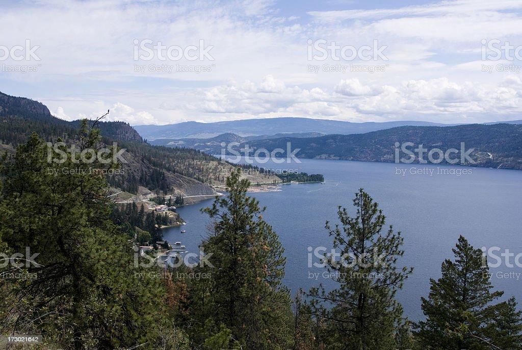 Kelowna, British Columbia stock photo