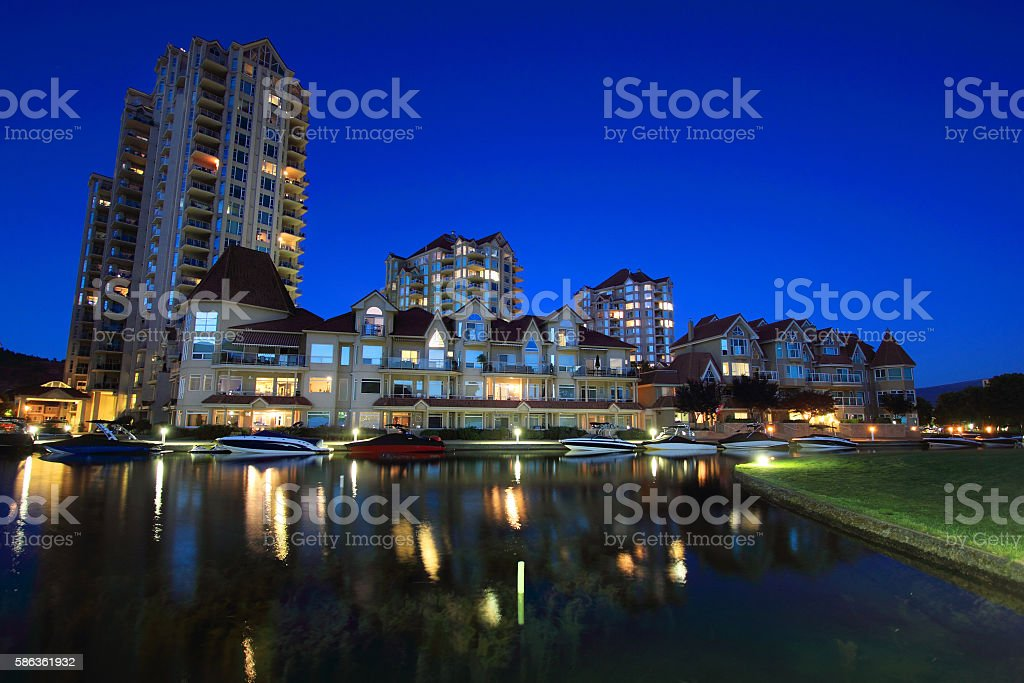 Kelowna, British Columbia stock photo