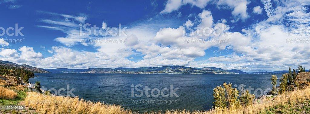 Kelowna Okanagan lake stock photo