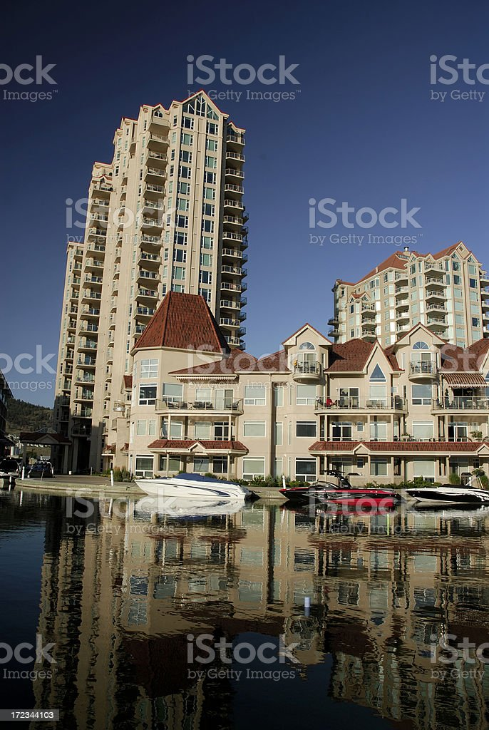 Kelowna waterfront royalty-free stock photo
