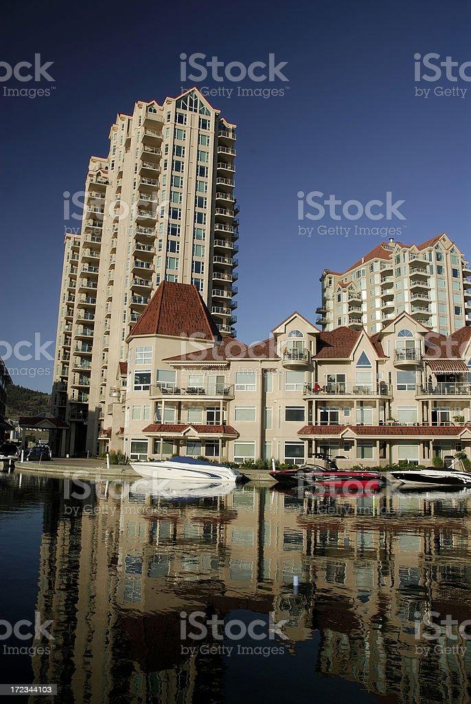 Kelowna waterfront stock photo