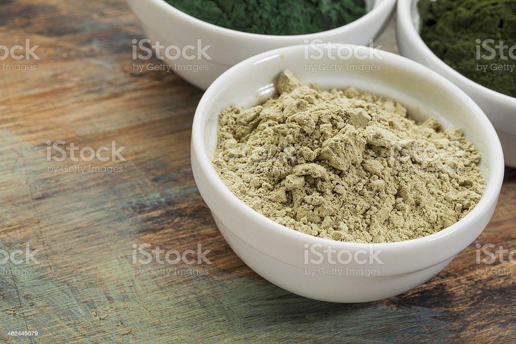 kelp seaweed powder stock photo