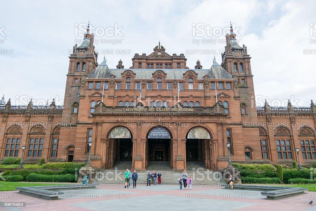 Kelvingrove Art Gallery and Museum in Glasgow. stock photo