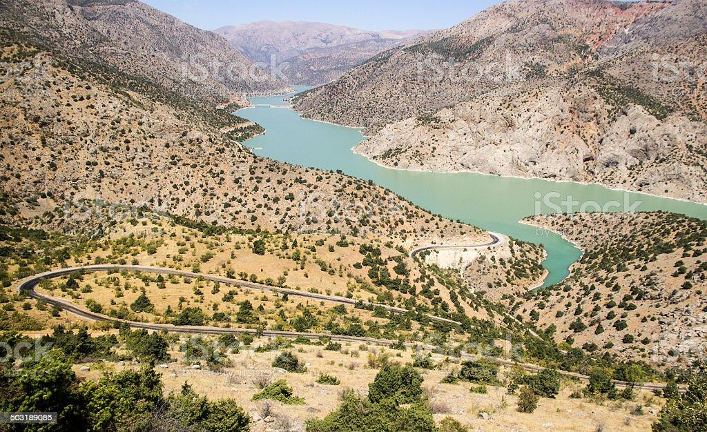 Kemaliye Erzincan Fırat Nehri stock photo