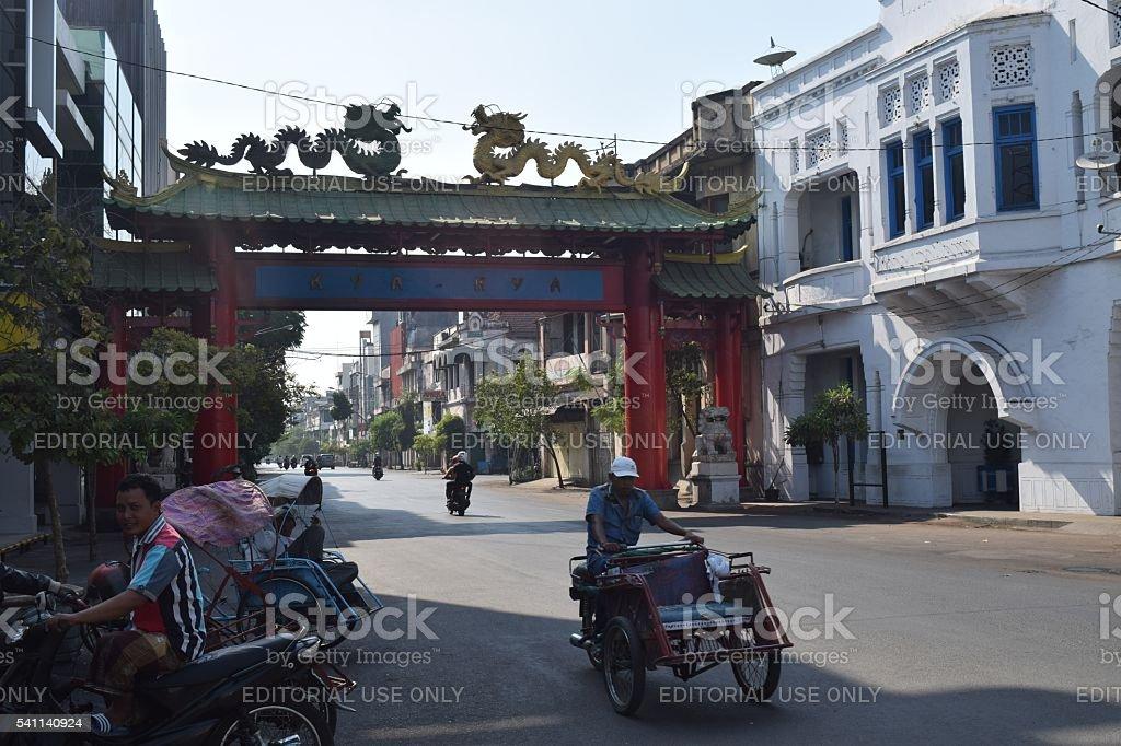 Kembang Jepun Surabaya stock photo