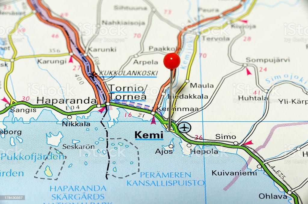 Kemi Map royalty-free stock photo