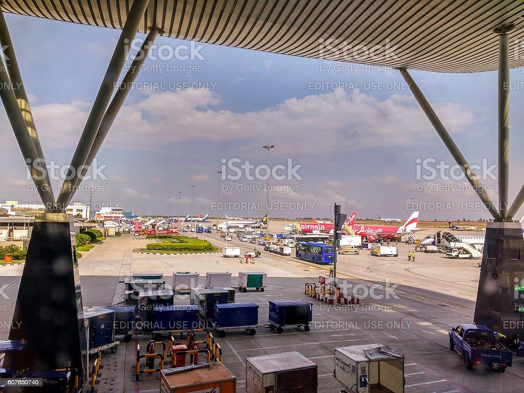 Kempegowda International Airport, Bangalore, India stock photo