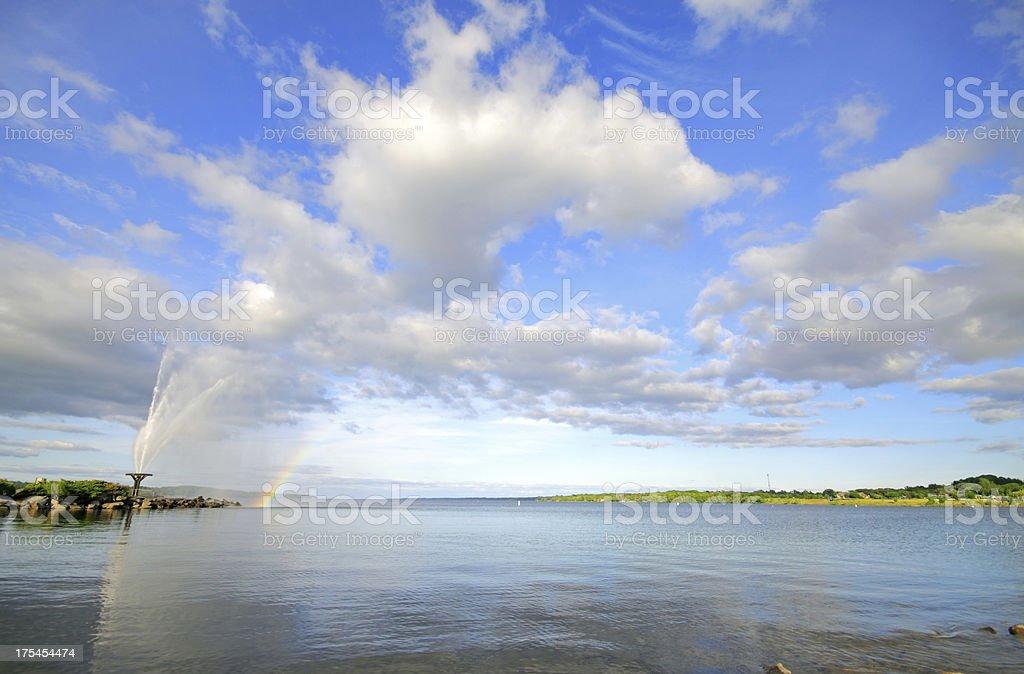 Kempenfelt Bay Landscape stock photo