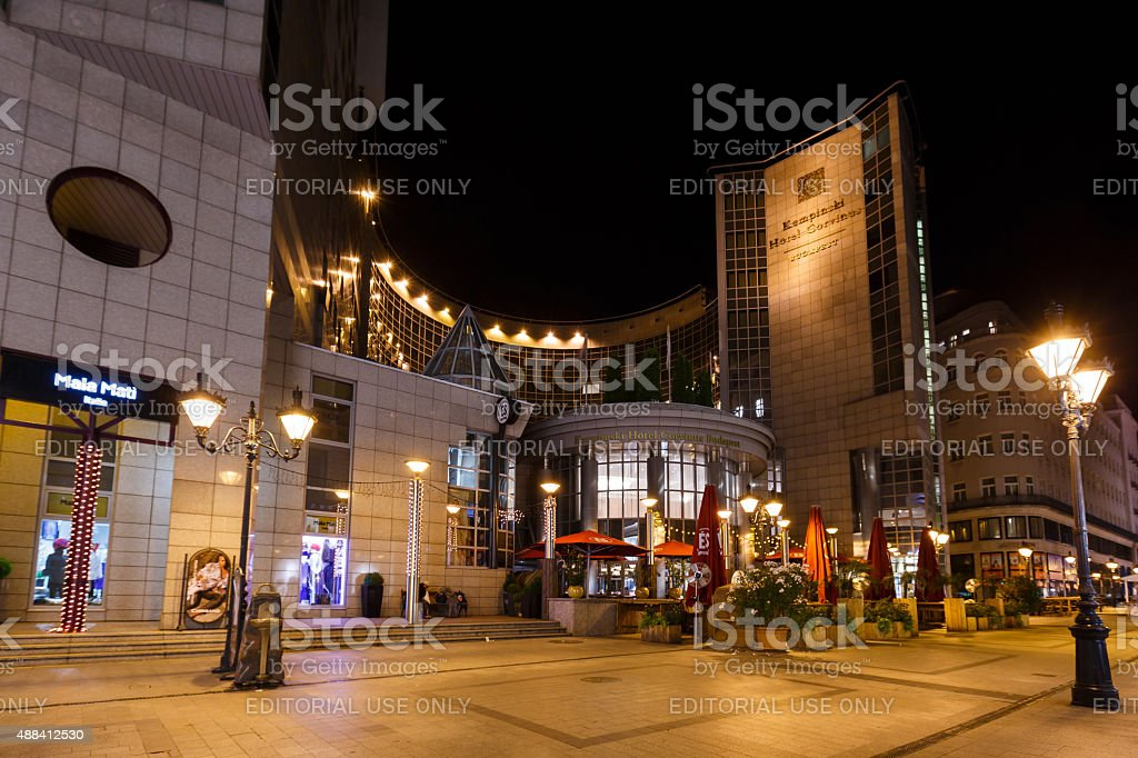 Kempinsky Hotel Corvinus Budapest stock photo