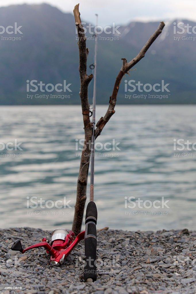 Kenai Fishing Pole royalty-free stock photo