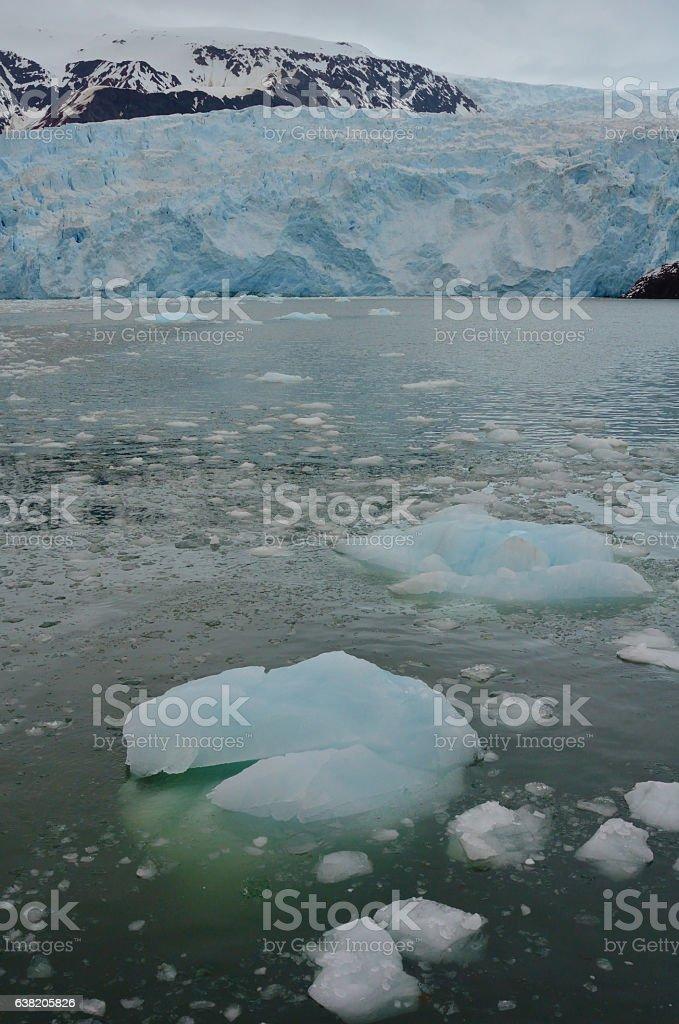 Kenai Fjords Glacier stock photo