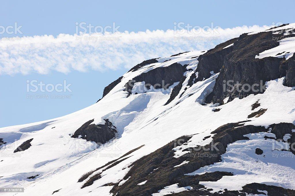 Kenai Mountain Portage Glacier Chugach Forest stock photo