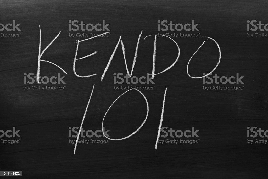 Kendo 101 On A Blackboard stock photo