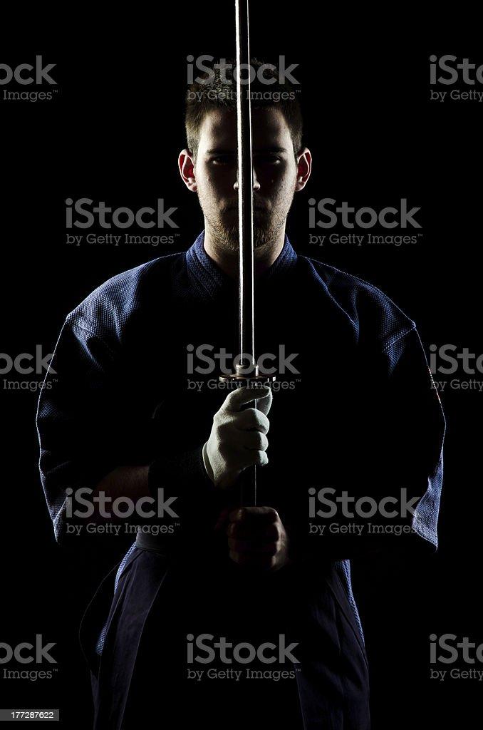 Kendo expert stock photo