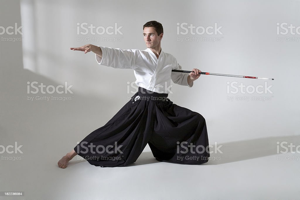 Kendo fighter royalty-free stock photo