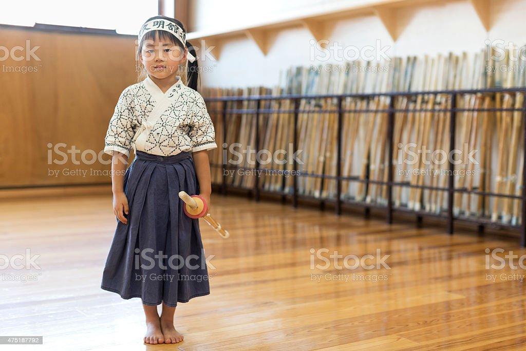Kendo Girl Student stock photo