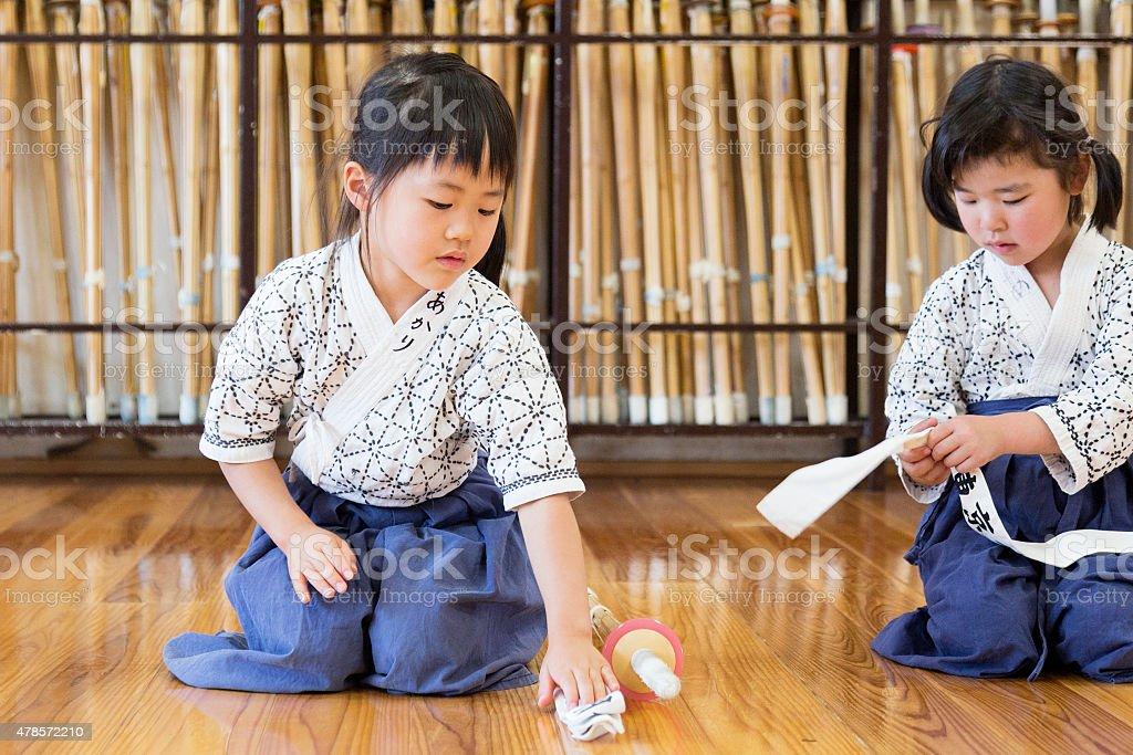Kendo Girl Students stock photo