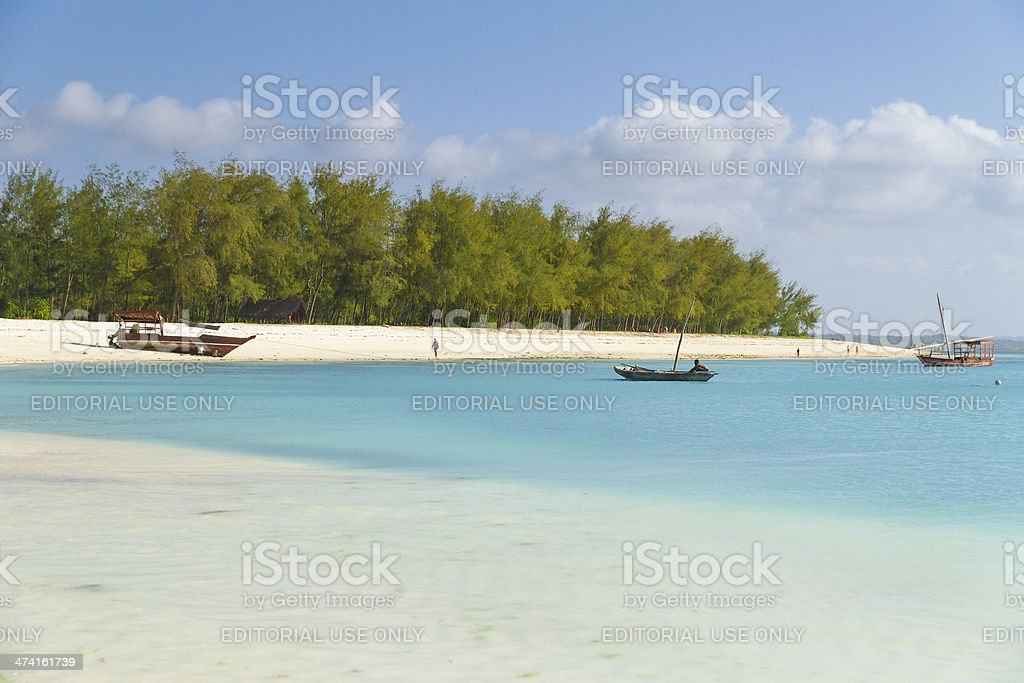 Kendwa beach in Zanzibar stock photo