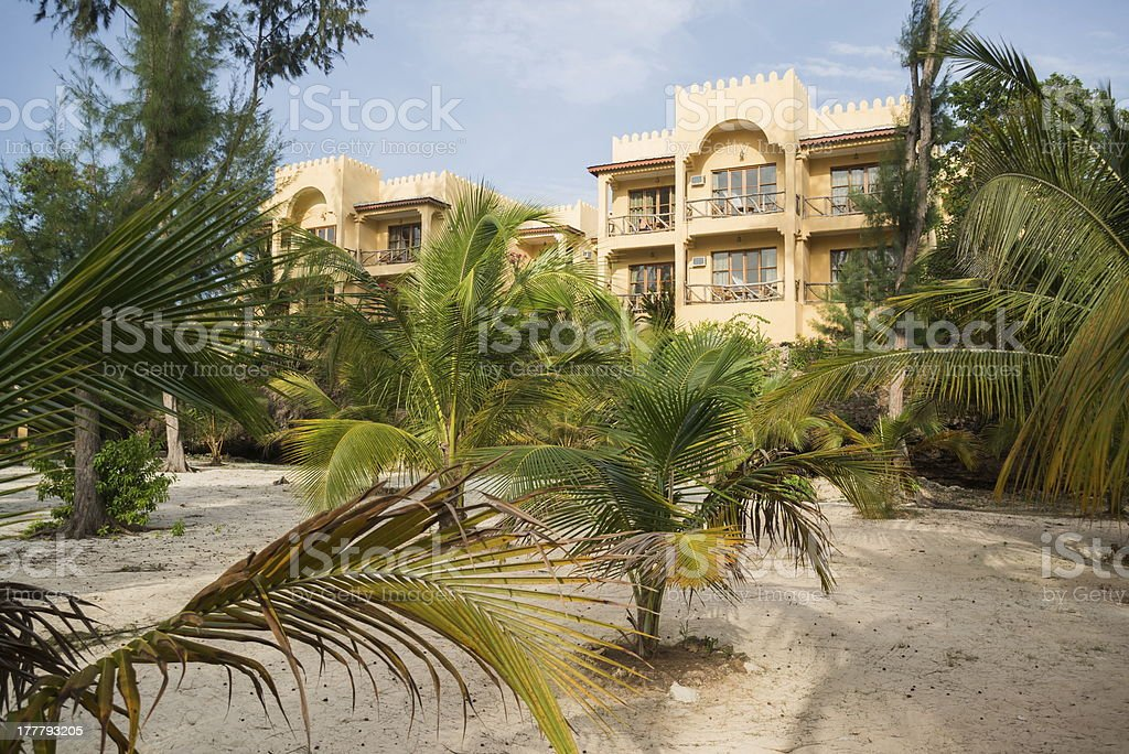 Kendwa hotel royalty-free stock photo