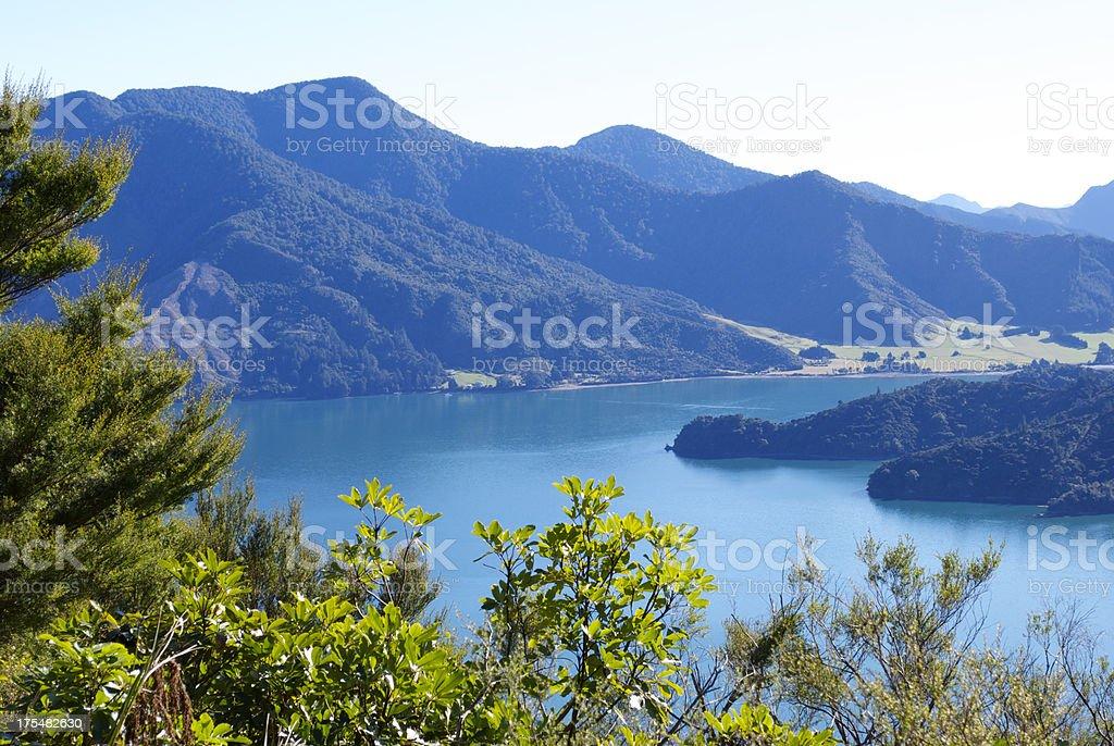 Kenepuru Sound, Marlborough Sounds, New Zealand royalty-free stock photo
