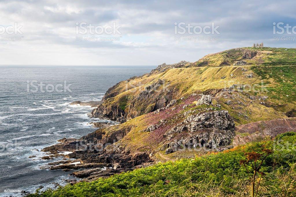 Kenidjack Cliff Castle stock photo