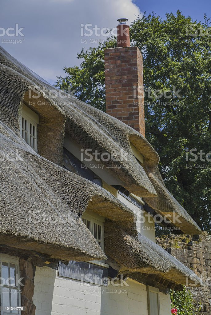 kenilworth cottages royalty-free stock photo