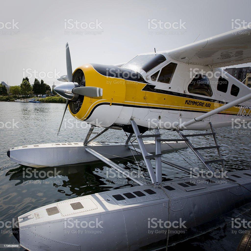Kenmore Air Seaplane at Lake Union Seattle stock photo