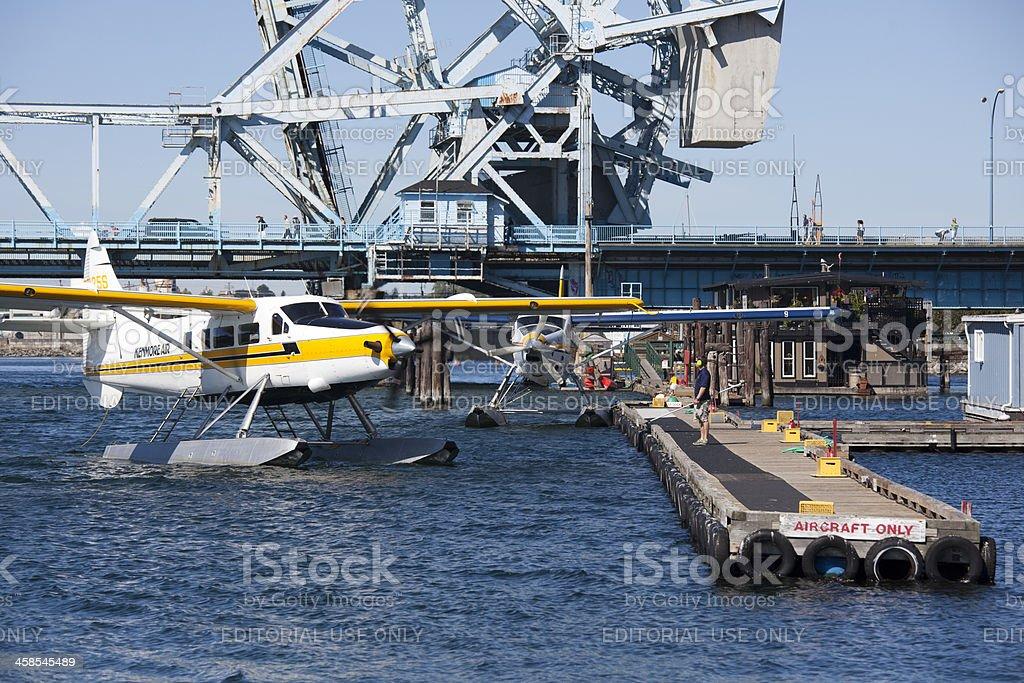 Kenmore Air Seaplane in Victoria, British Columbia, Canada stock photo