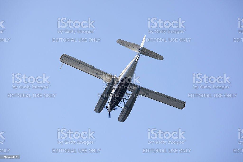 Kenmore Air Seaplane Landing in Victoria, British Columbia, Cana stock photo