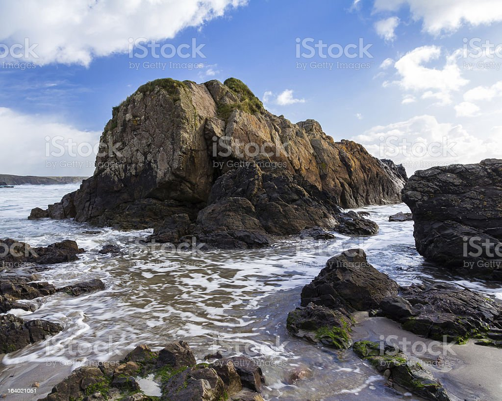Kennack Sands Cornwall stock photo
