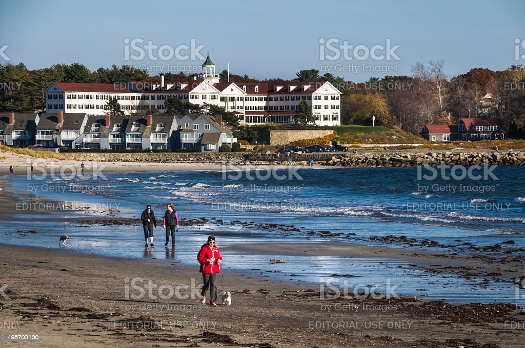Kennebunkport Beach Activities stock photo