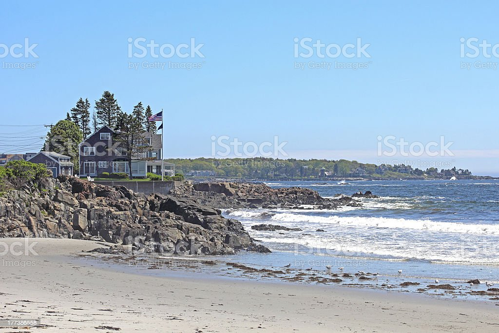 Kennebunkport Beach stock photo