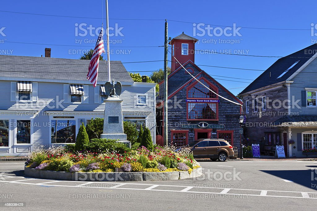 Kennebunkport Dock Square. stock photo
