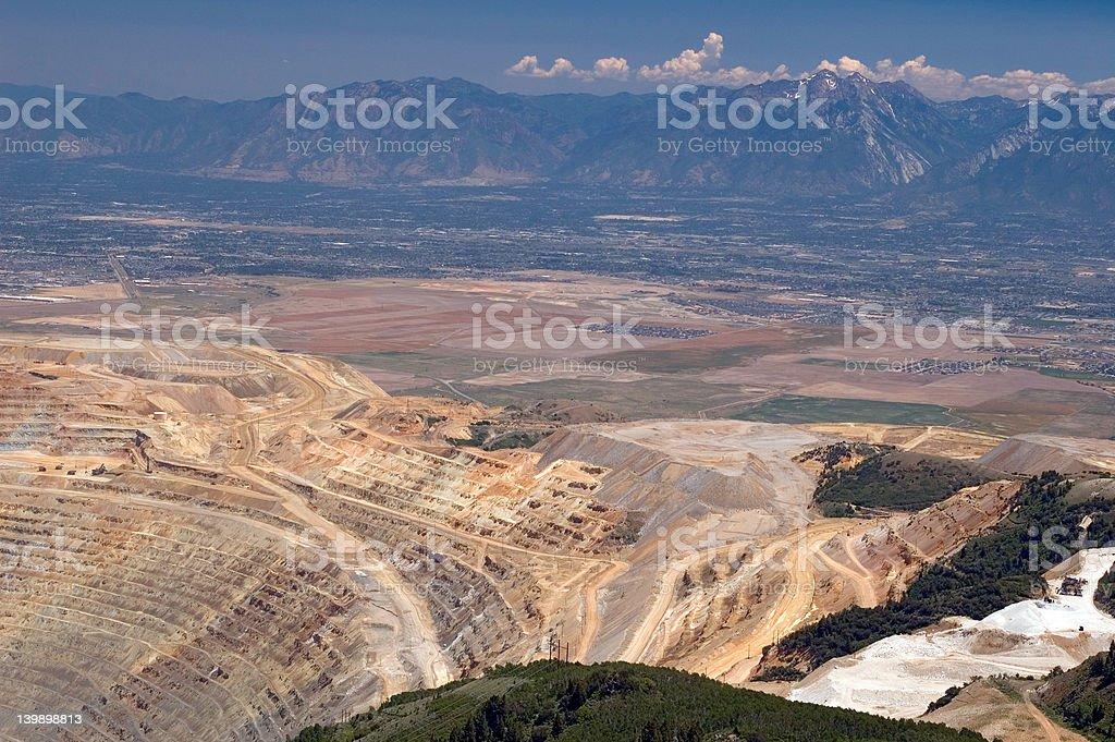 Kennecott open pit copper mine royalty-free stock photo