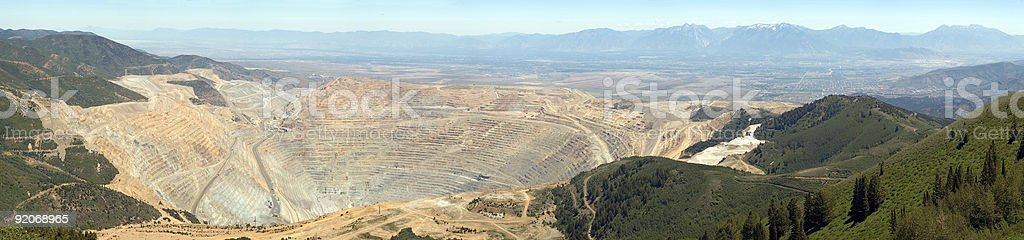 Kennecott open pit copper mine royalty-free stock photo