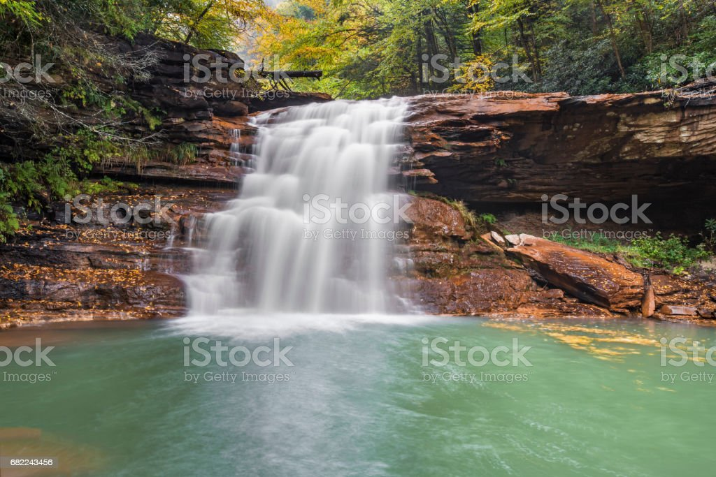 Kennedy Falls on the North Branch of the Blackwater River stock photo